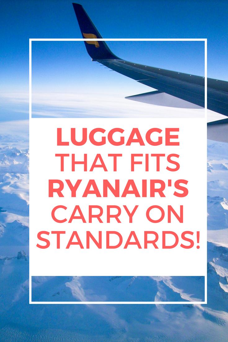 Luggage that fits the Ryanair dimensions 55x40x20 CM –
